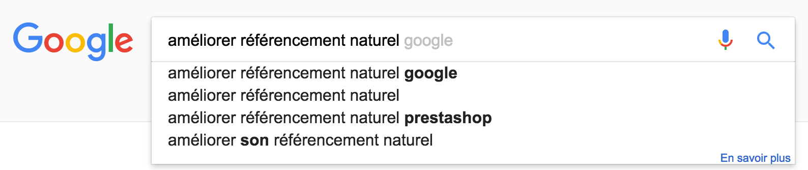 Suggestions Google